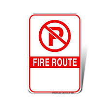 Designated Fire Route Information