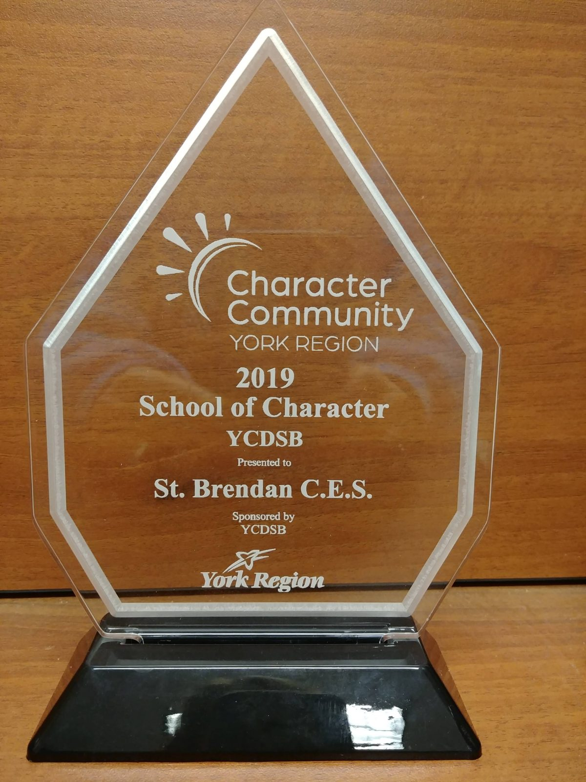 SBN Awarded a School of Character!